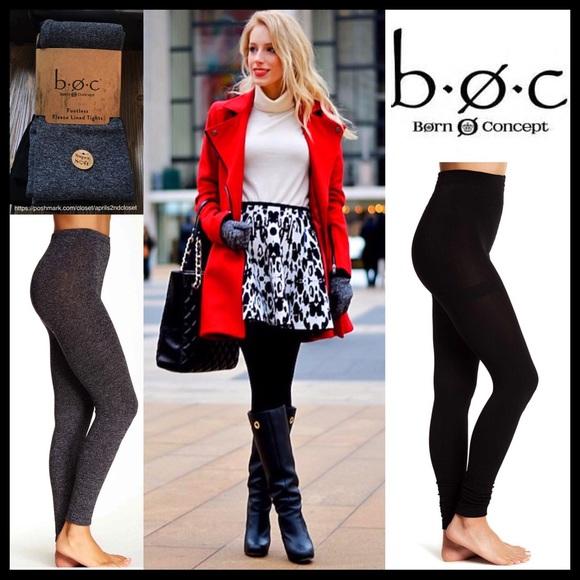 8a9b7c565c057a Born Accessories | 2 Pairs Fleece Leggings Footless Tights | Poshmark